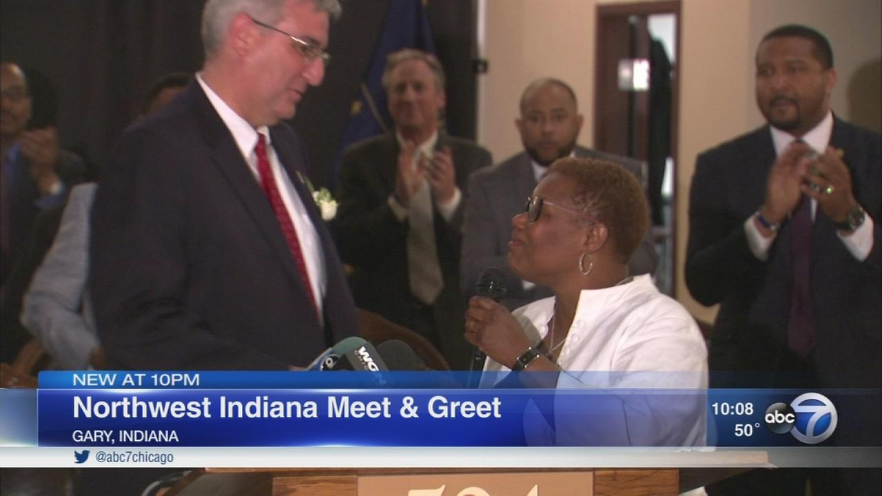 Mother Wade, Gary mayor welcome Indiana Governor