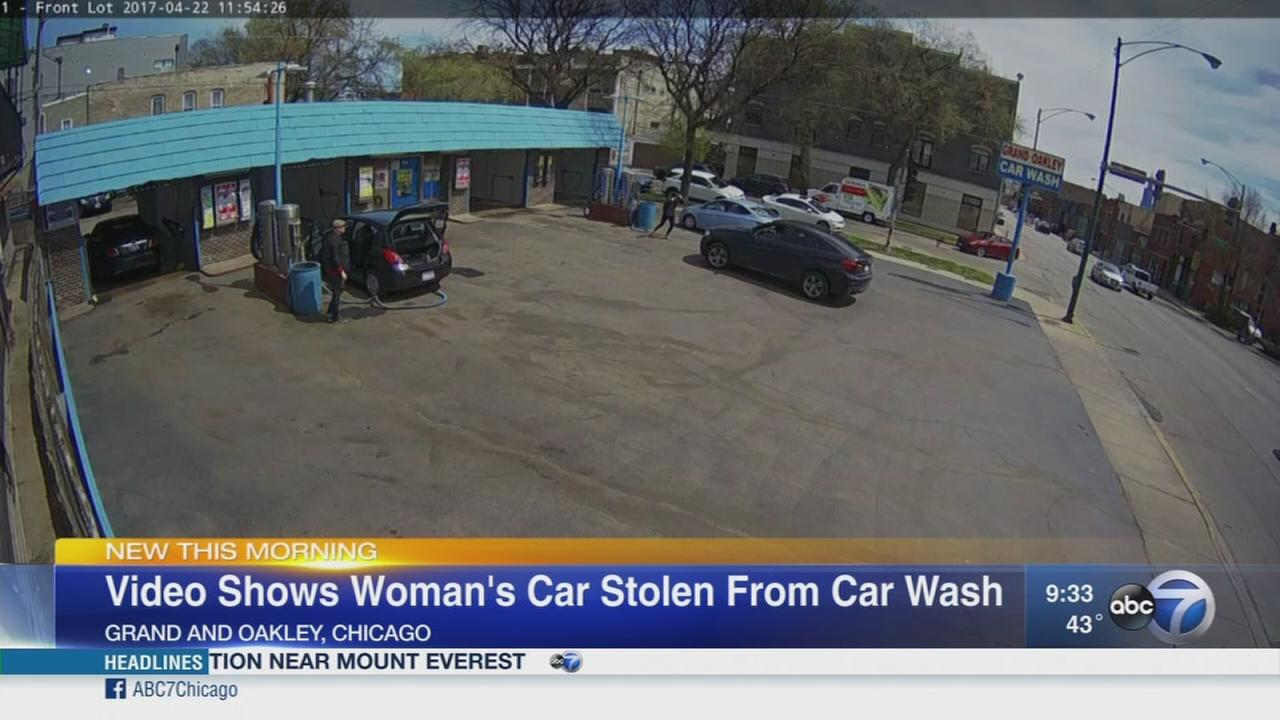 VIDEO: Womans car stolen from car wash