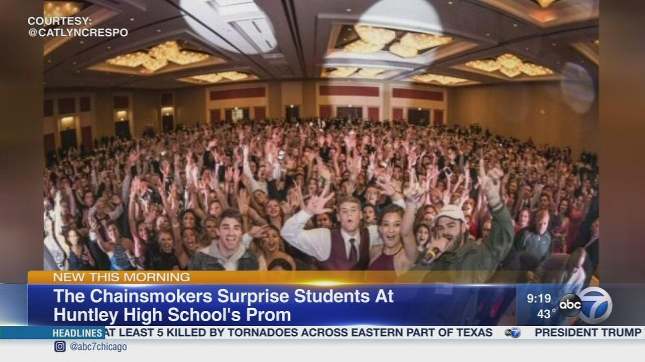 Band The Chainsmokers crashes Huntley High Schools prom