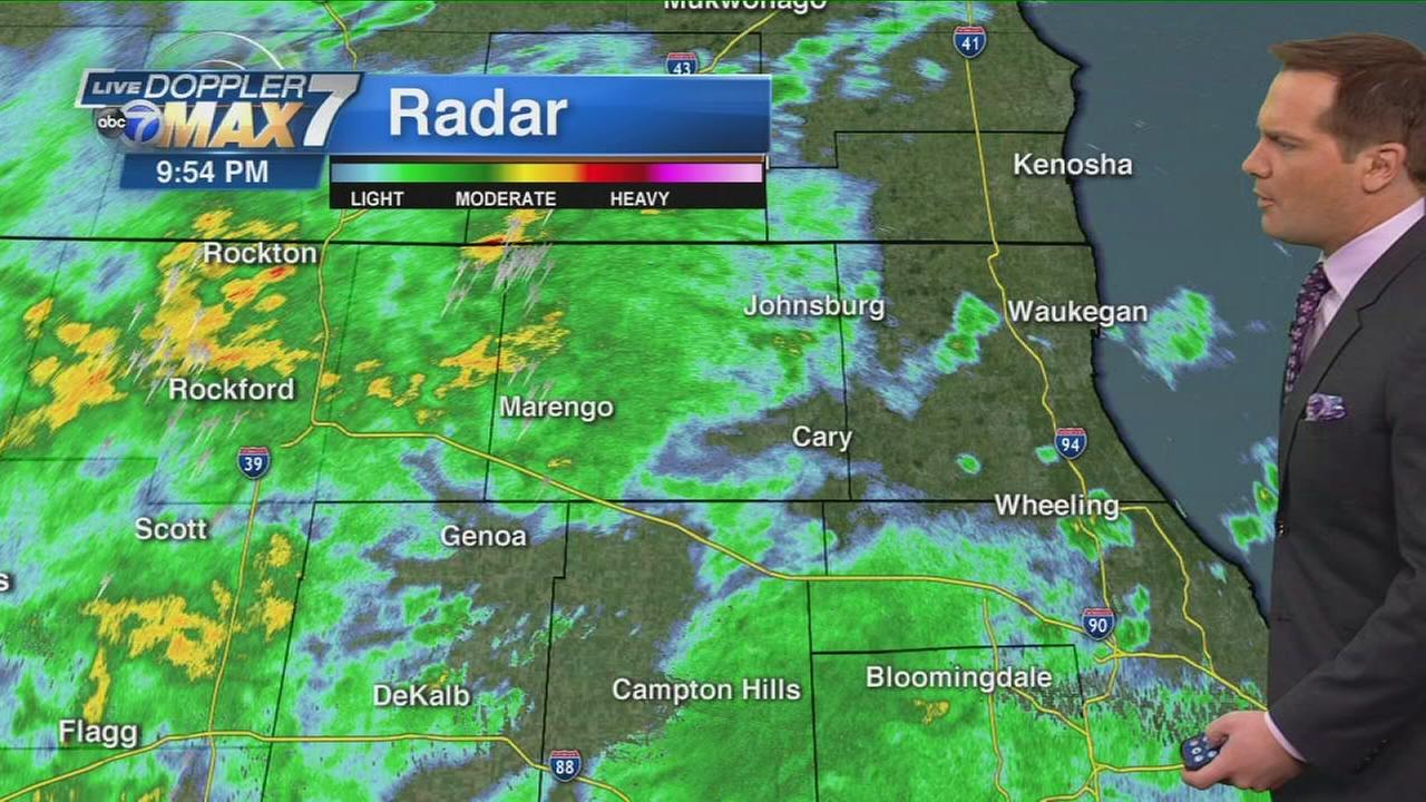 chicago weather  rainy weekend causes flooding