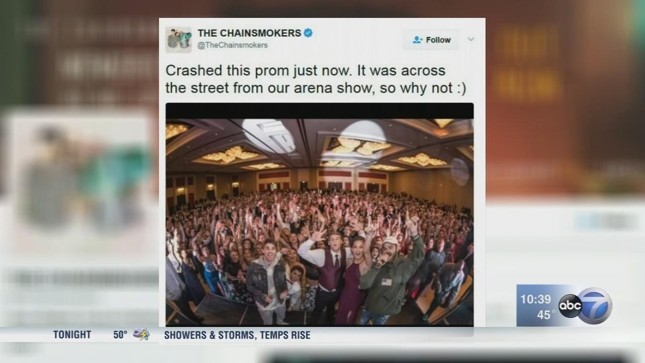 Chainsmokers crash Huntley HS prom