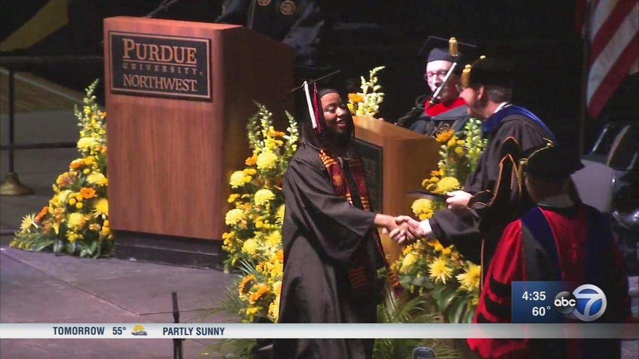 Gary teen gets college degree before graduating high school