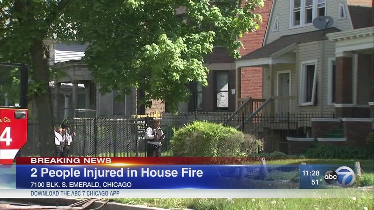 2 injured in suspicious Englewood house fire