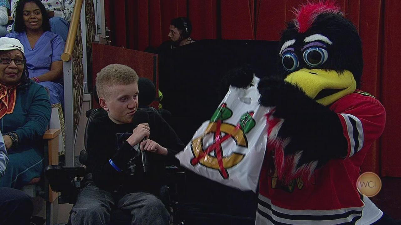 A surprise for Riverside teen Ethan Tkalec