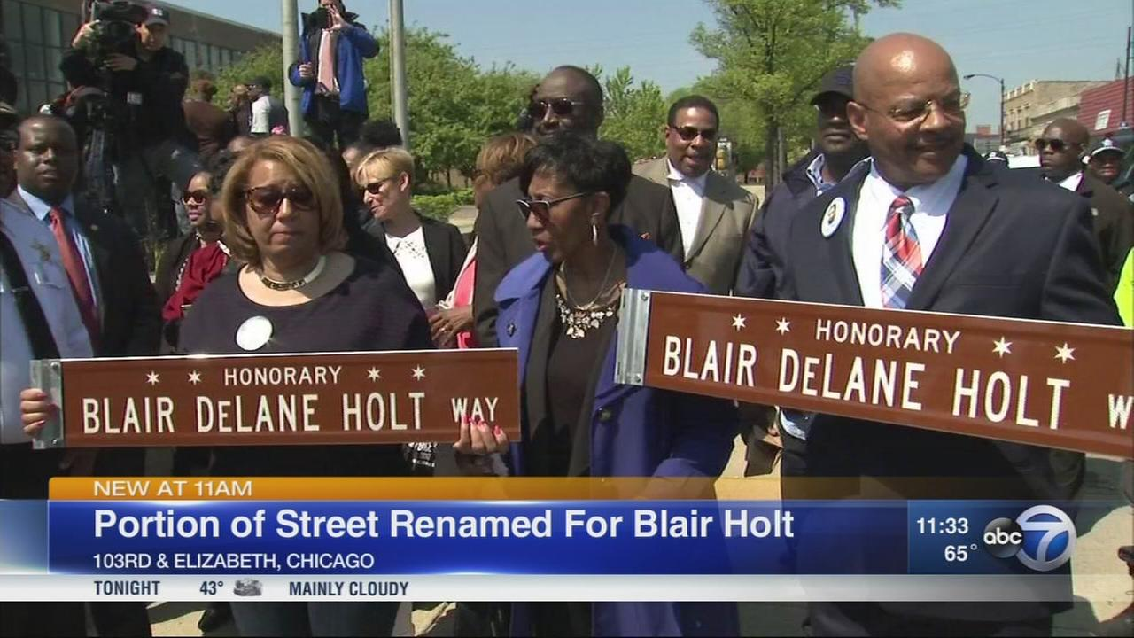 Street designation honors Blair Holt