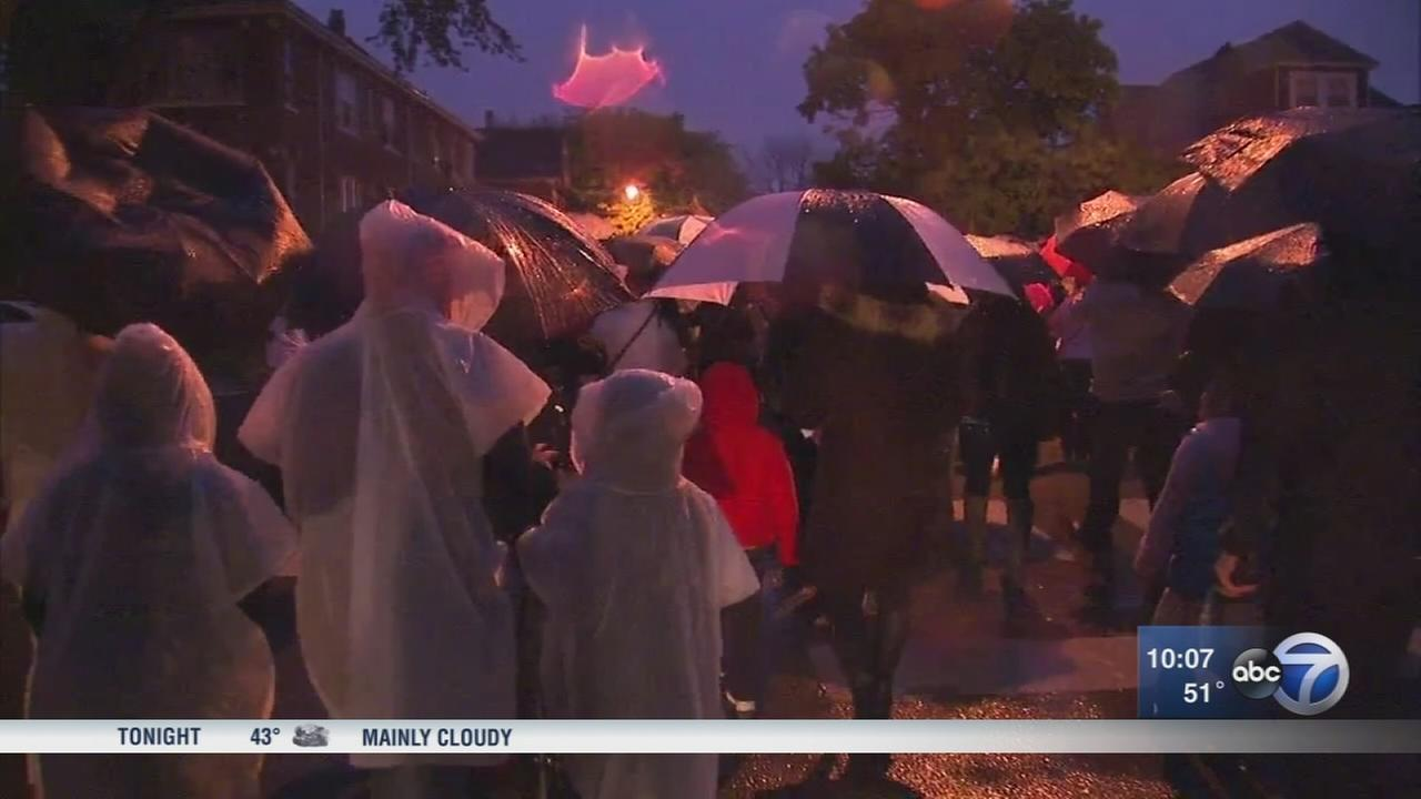 Brighton Park residents hold peace march after mass shooting