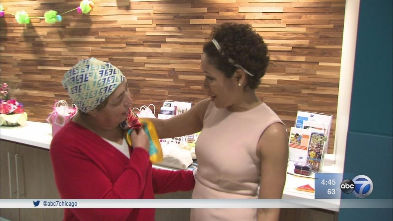 Chicago teacher, survivor donates scarves to breast cancer patients