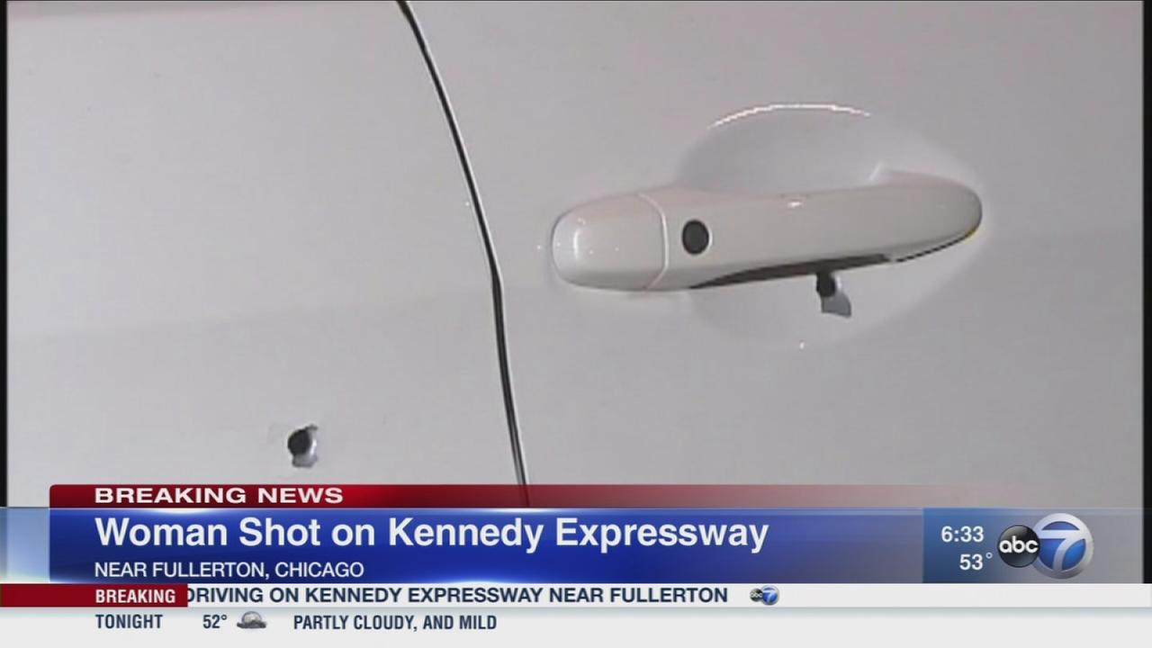Woman shot on Kennedy Expressway