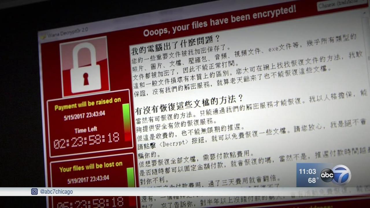Ransomware virus targets computers around globe