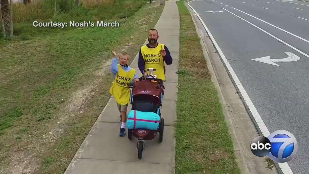 11-year-old marches cross-country for diabetes cure