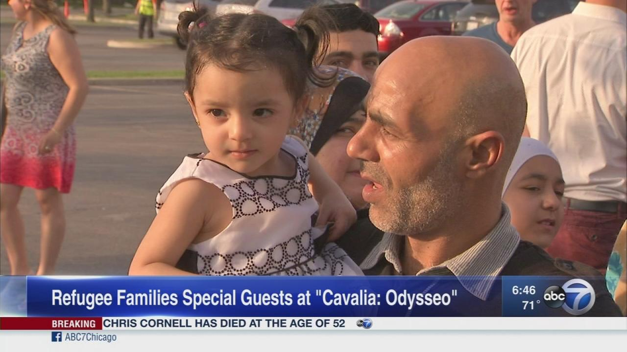 Refugee families guests at Odysseo