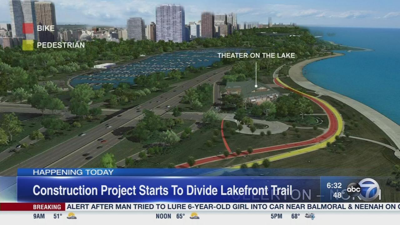 Work begins on Lakefront Trail project