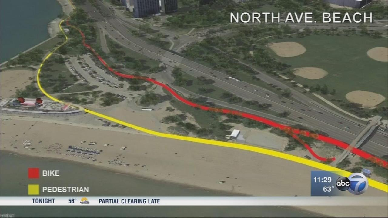 Work begins on Lakefront Trail