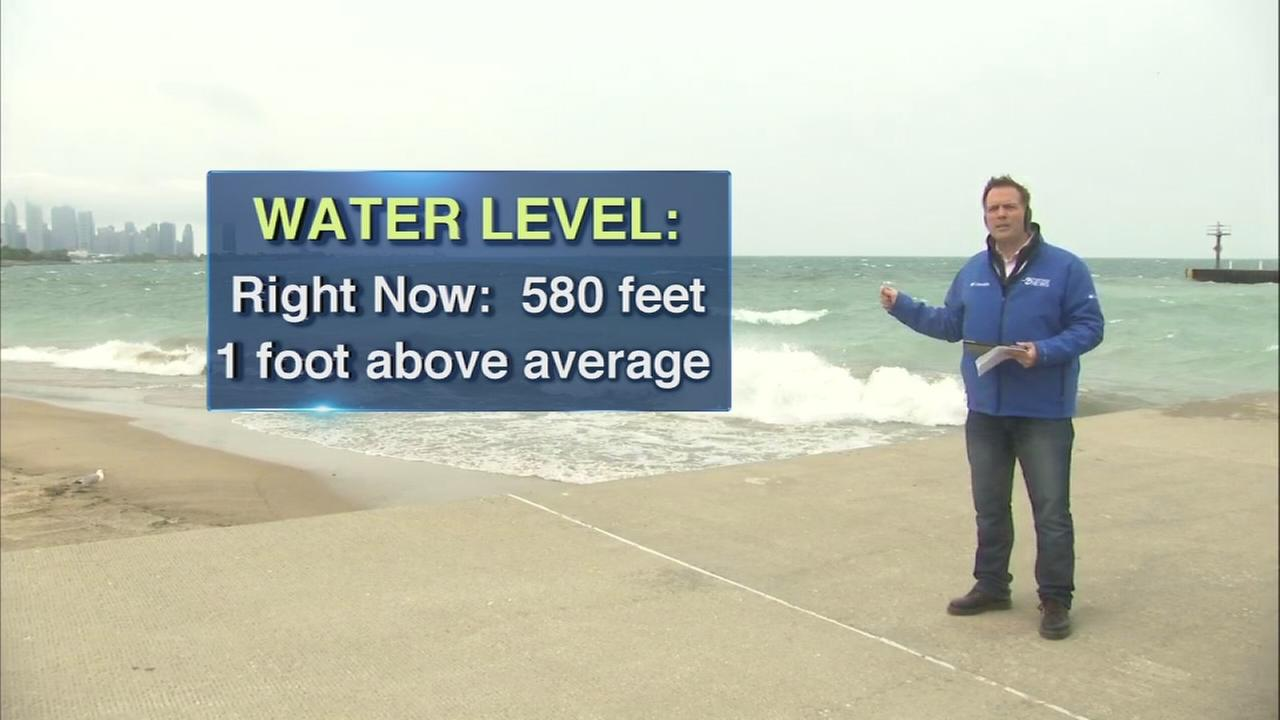 Higher lake levels means shrinking beaches in Chicago