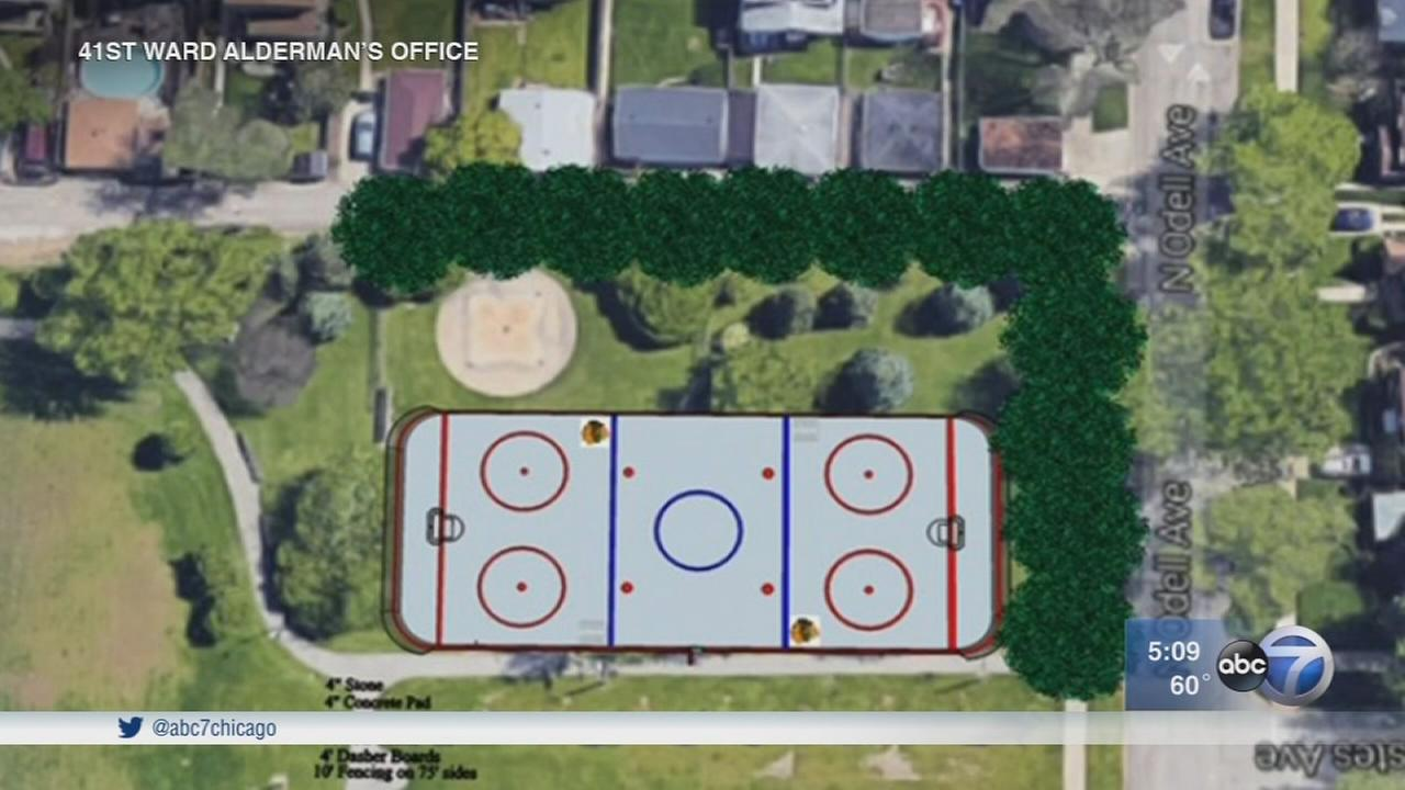 Edison Park residents raise concerns about new roller hockey rink