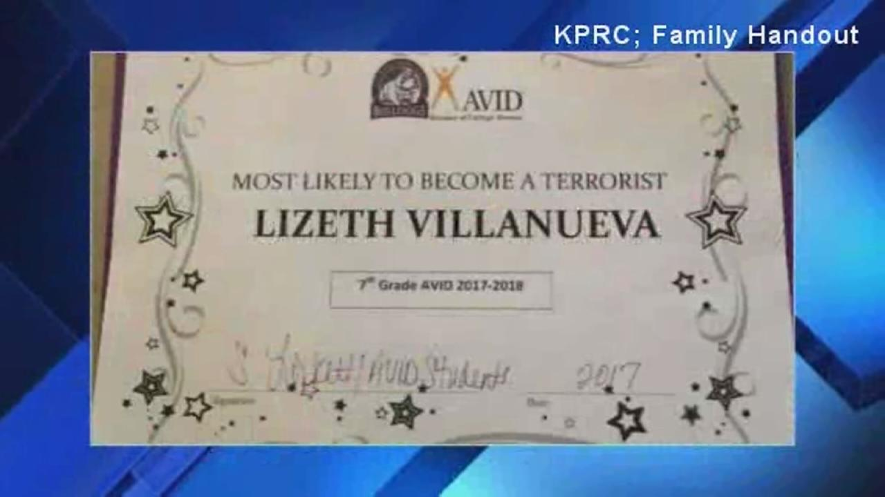 7th-grader gets Most Likely to Become a Terrorist Award