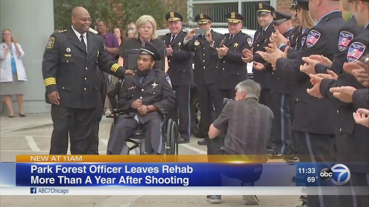 Park Forest officer going home 1 year after shooting