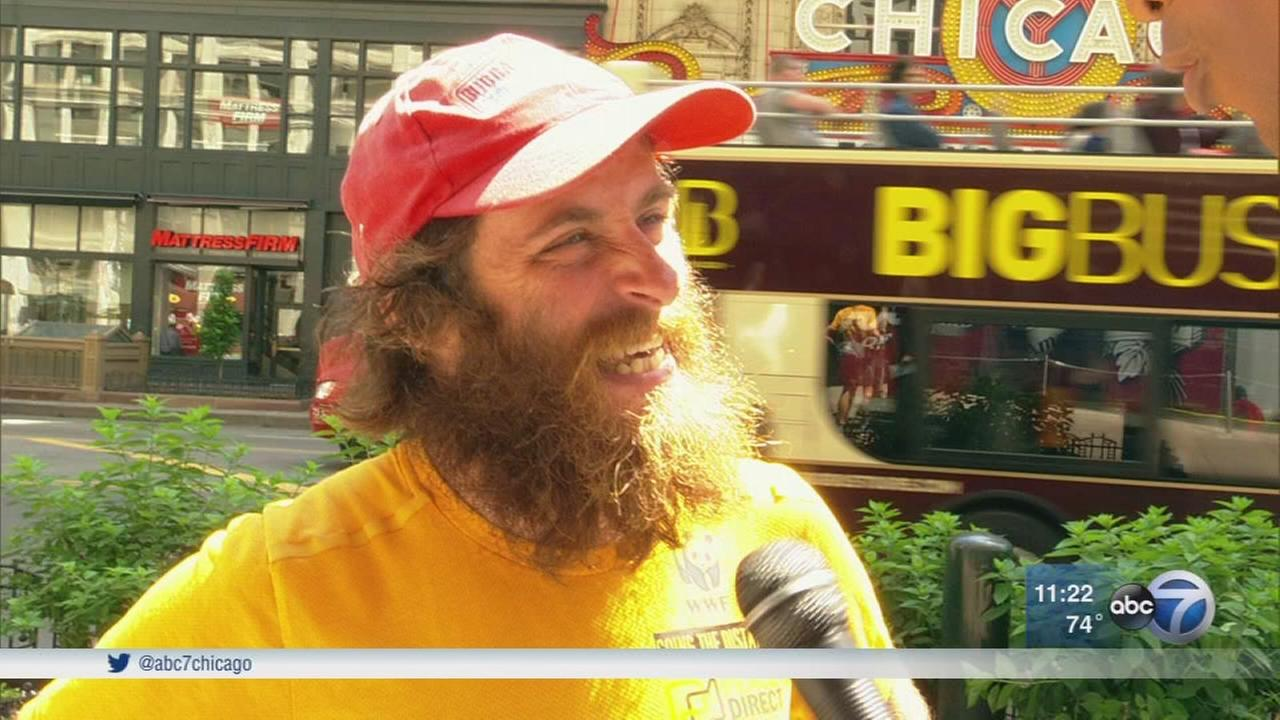 Real-life Forrest Gump running across America for charity