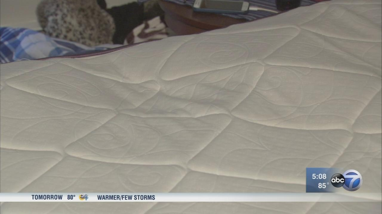 Woman receives new mattress after denting, caving