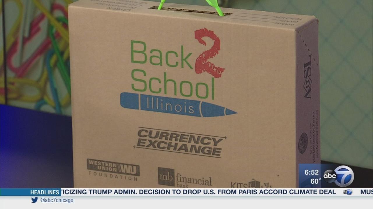 Local non-profit surprises schools with free supplies