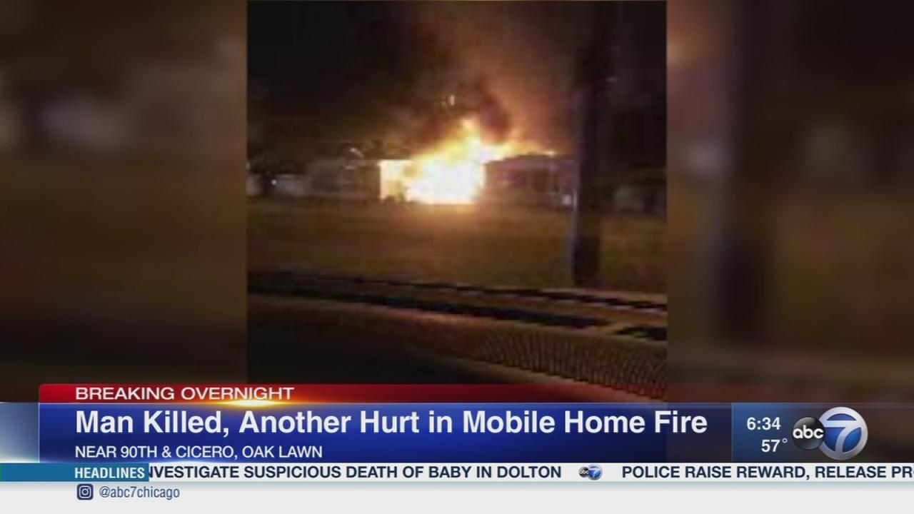 Man dies in Oak Lawn mobile home fire
