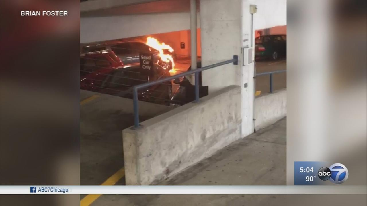 12 cars burned in Loop parking garage fire