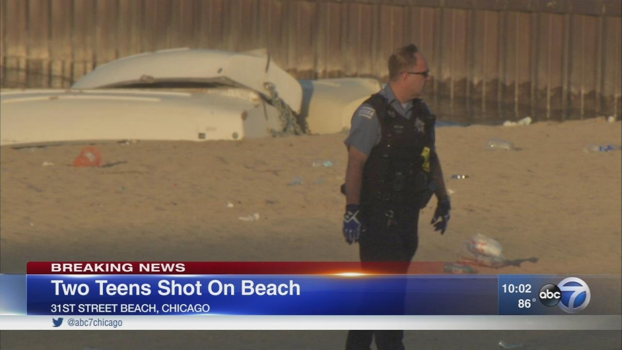 Two 16-year-old boys shot at 31st Street Beach
