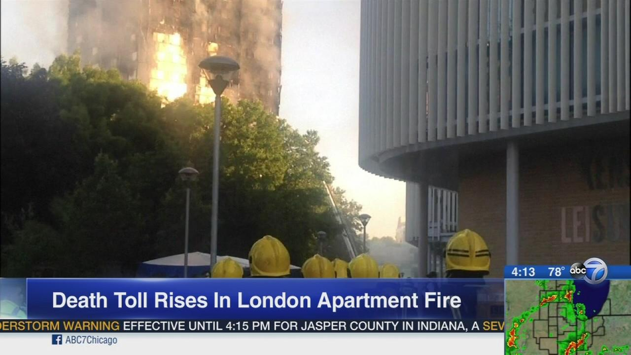 London fire death toll at 12 in residential tower