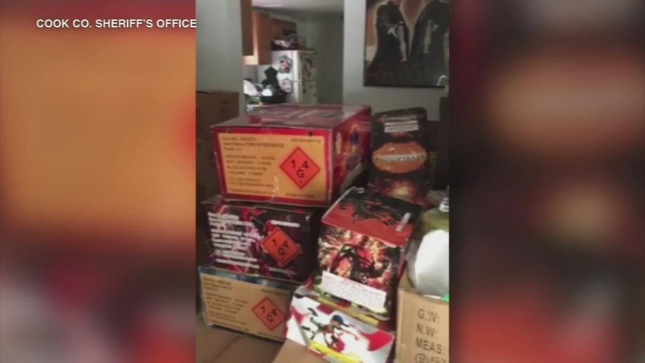 4,000 pounds of fireworks found in Lemont home