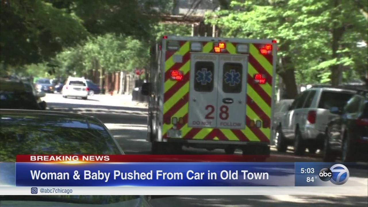 Woman, baby ejected from moving vehicle in Old Town