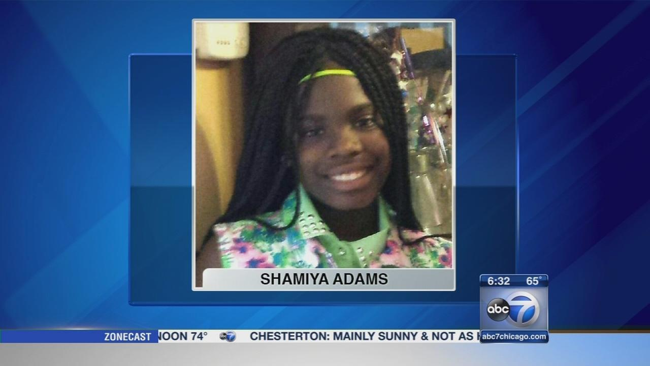 Person of interest questioned in Shamiya Adams murder