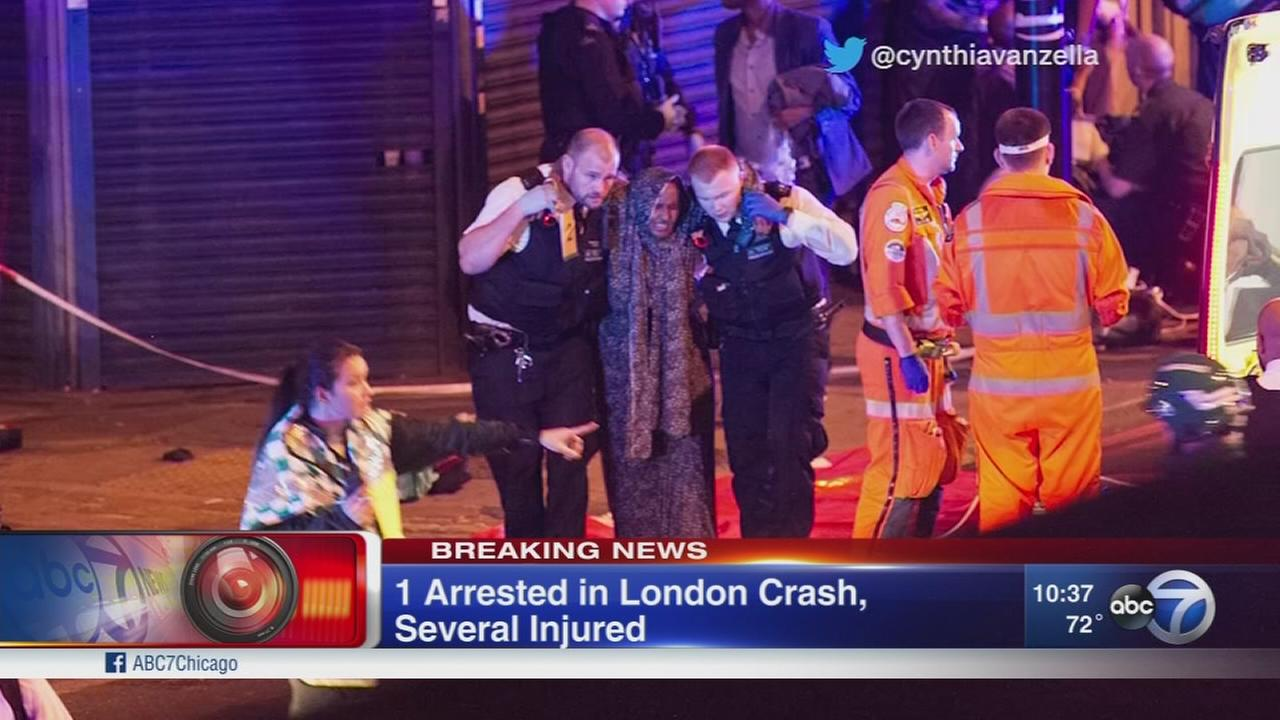 1 arrested after London crash near mosque