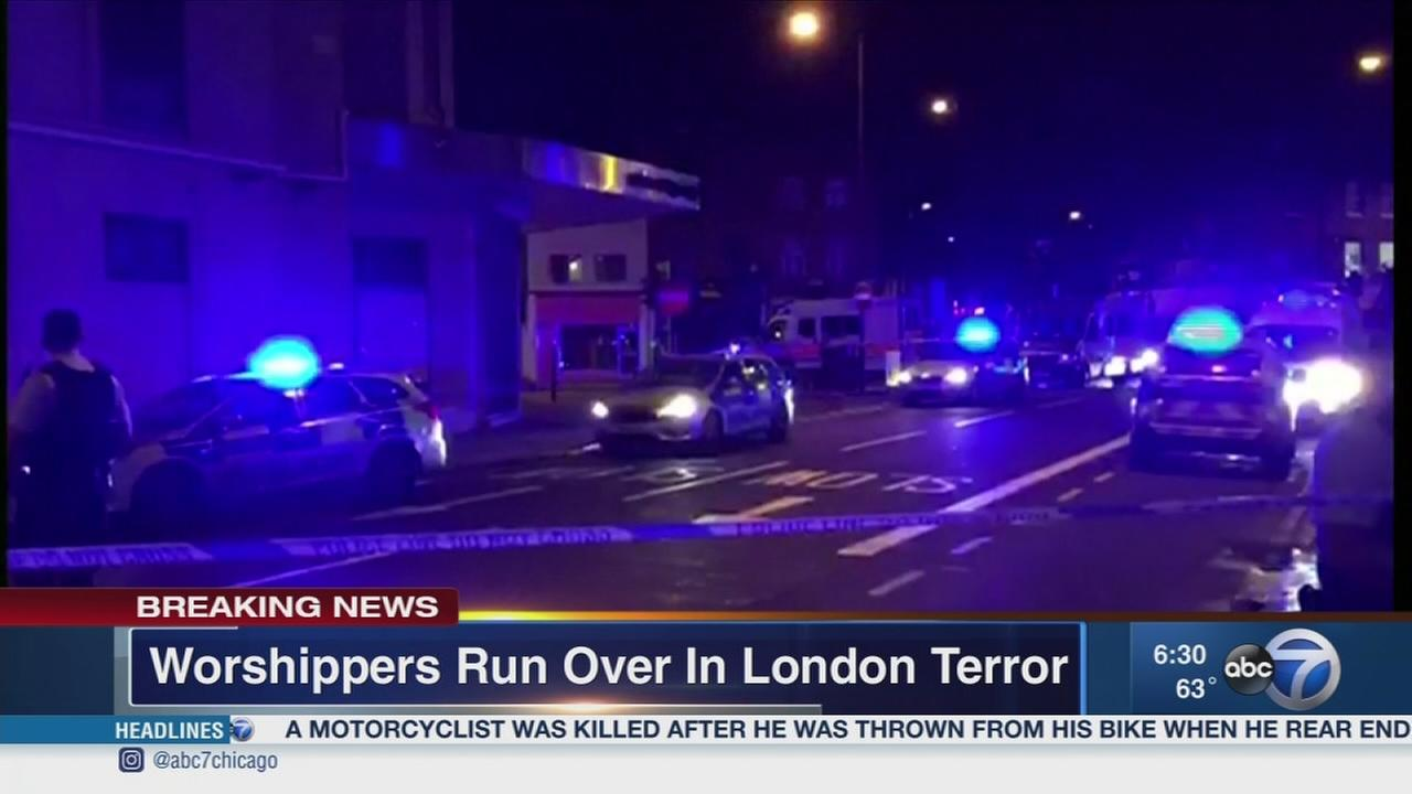 Driver arrested after pedestrians hit outside London mosque