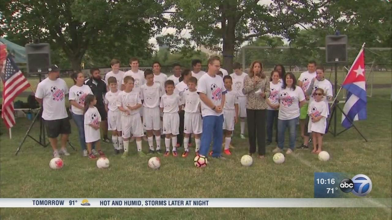 Chiacgo youth soccer team visits Cuba