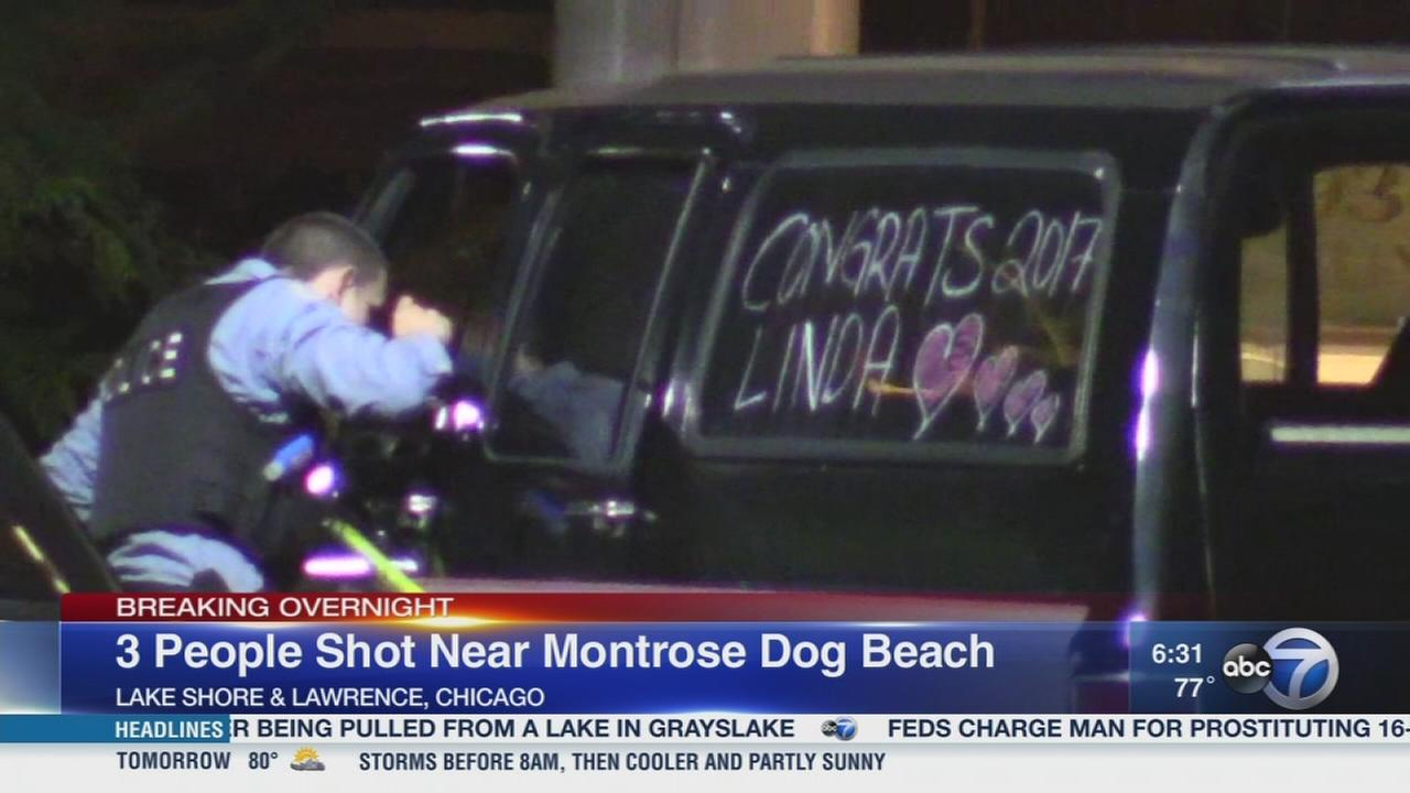 3 shot near Montrose Dog Beach