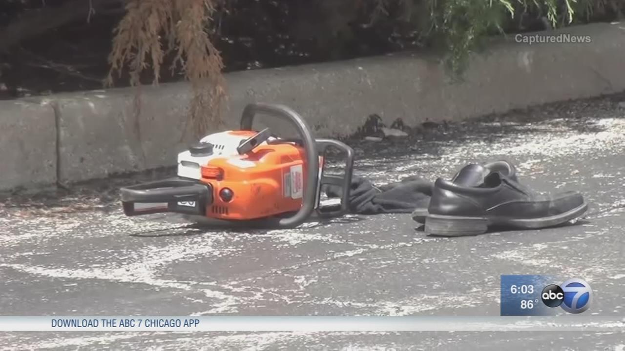 911 calls released in chainsaw attack