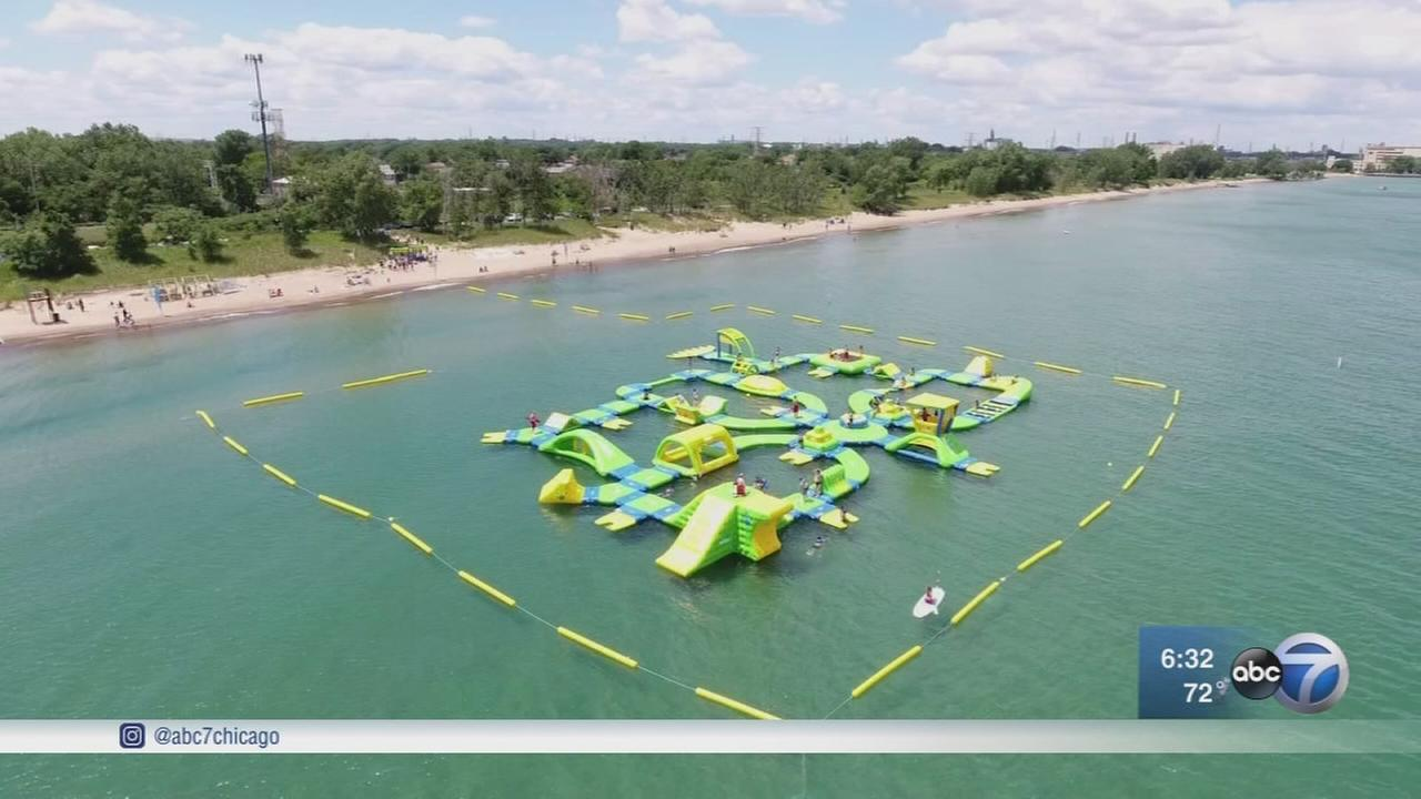 Floating waterpark opens in Whiting