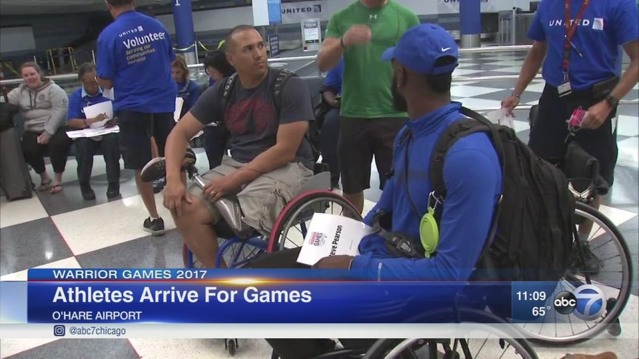 Athletes arrive in Chicago for Warrior Games