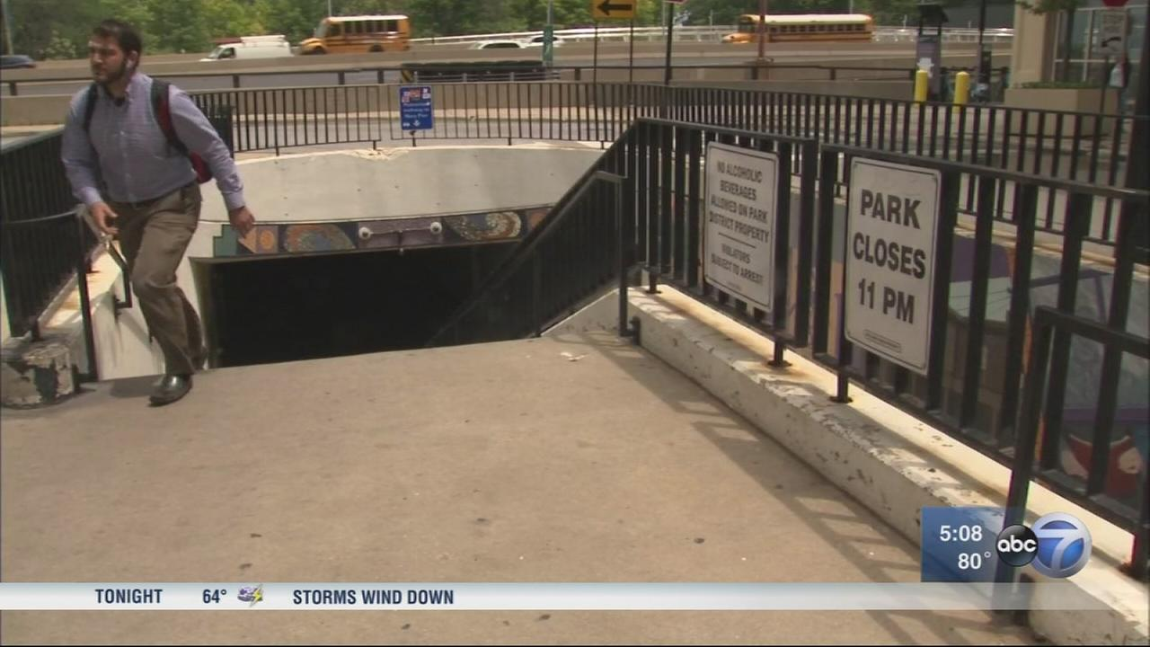 Ohio Street underpass locked nightly to cut down on crime