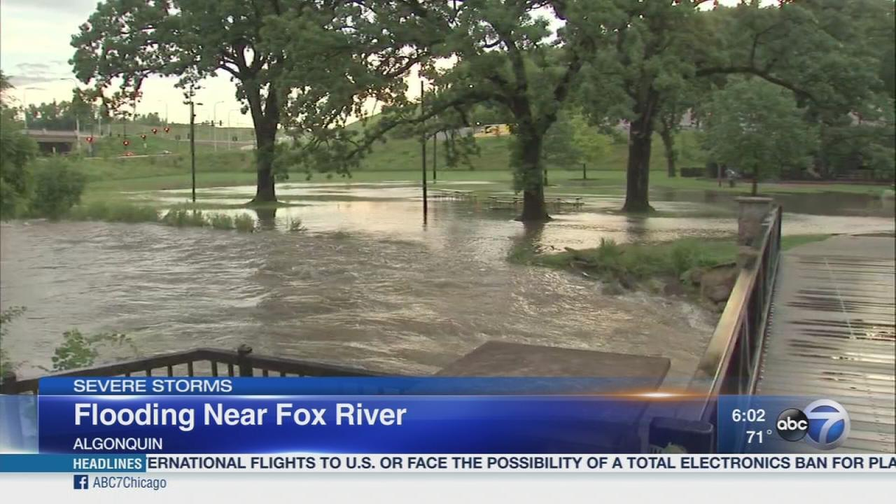 Flooding near Fox River