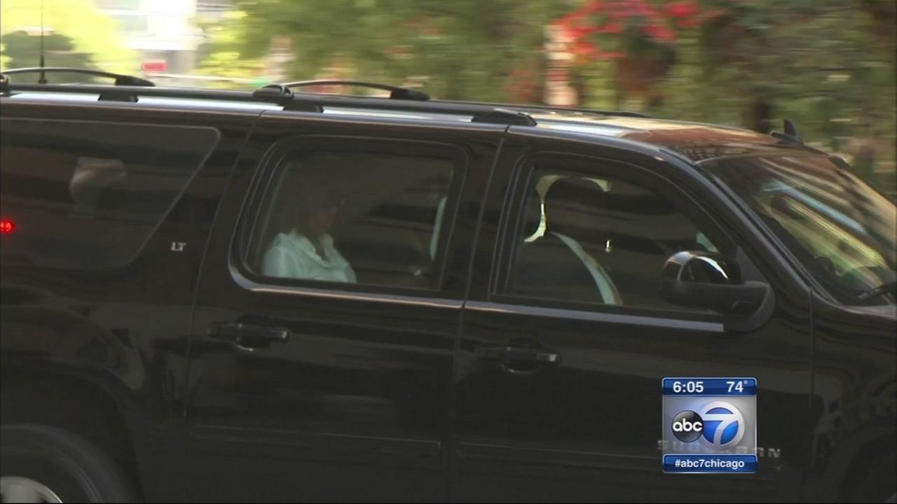 First Lady arrives in Chicago for fundraiser