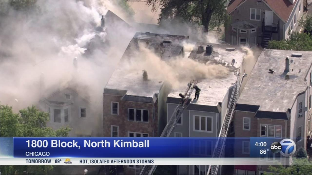 3 firefighters among 4 hurt in Northwest Side extra-alarm fire