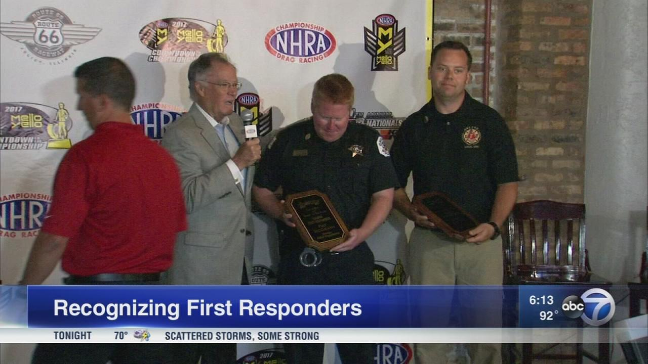 100 Clubs honors K9 officer, Orland Park firefighter