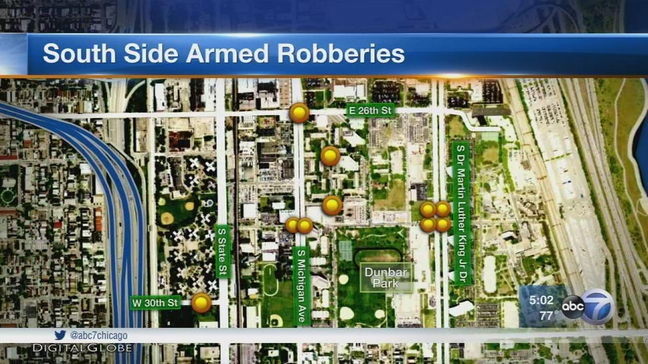 Police investigate string of South Side robberies