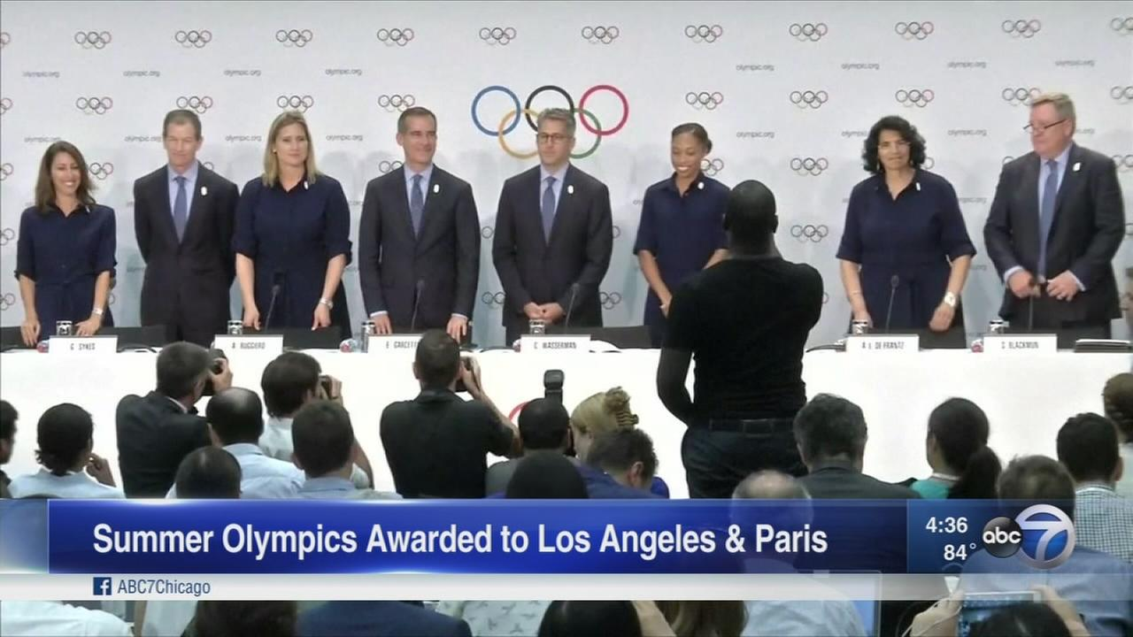 LA, Paris get 2024 and 2028 Olympic bid
