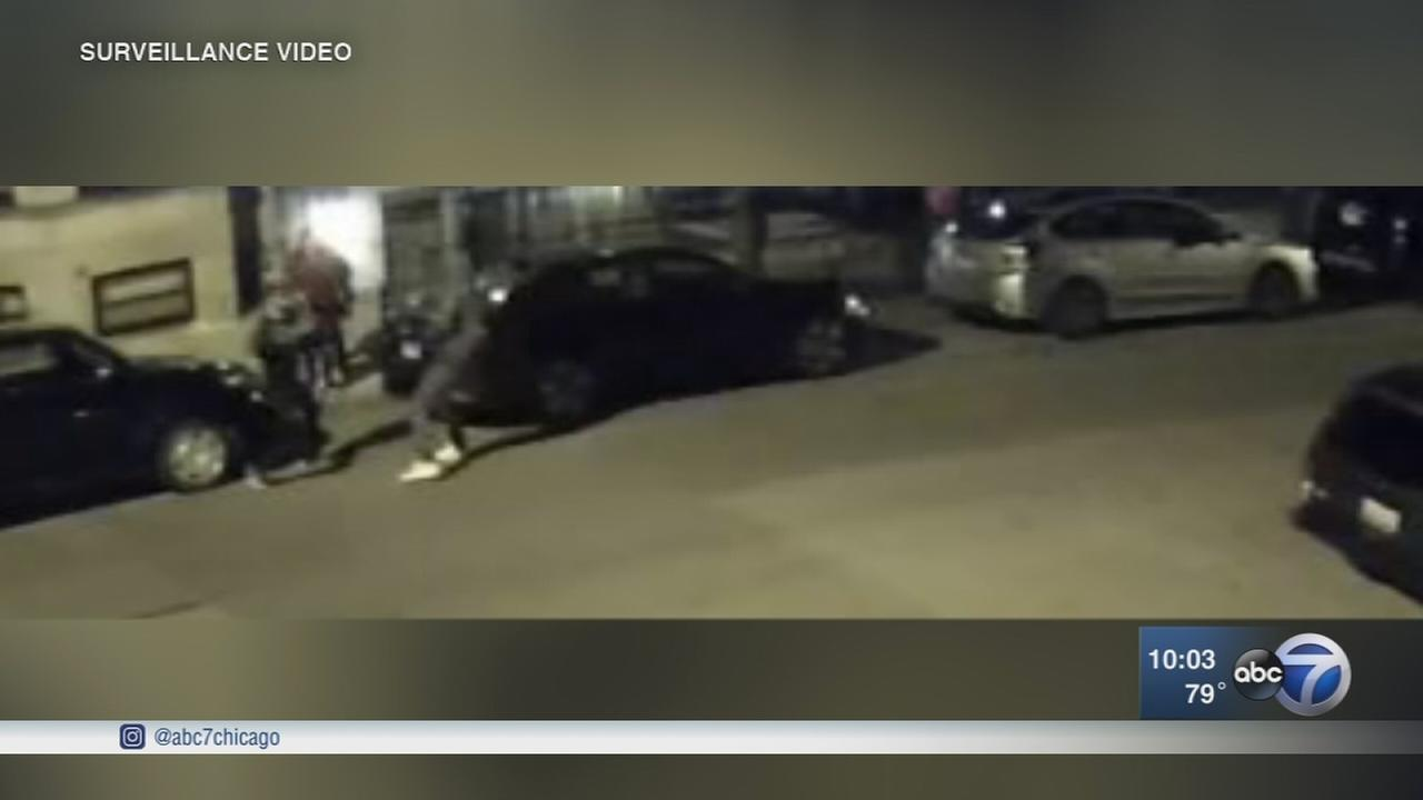Wicker Park carjacking caught on security video