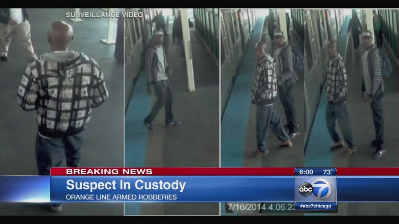 Police: CTA Orange Line robbery suspect in custody