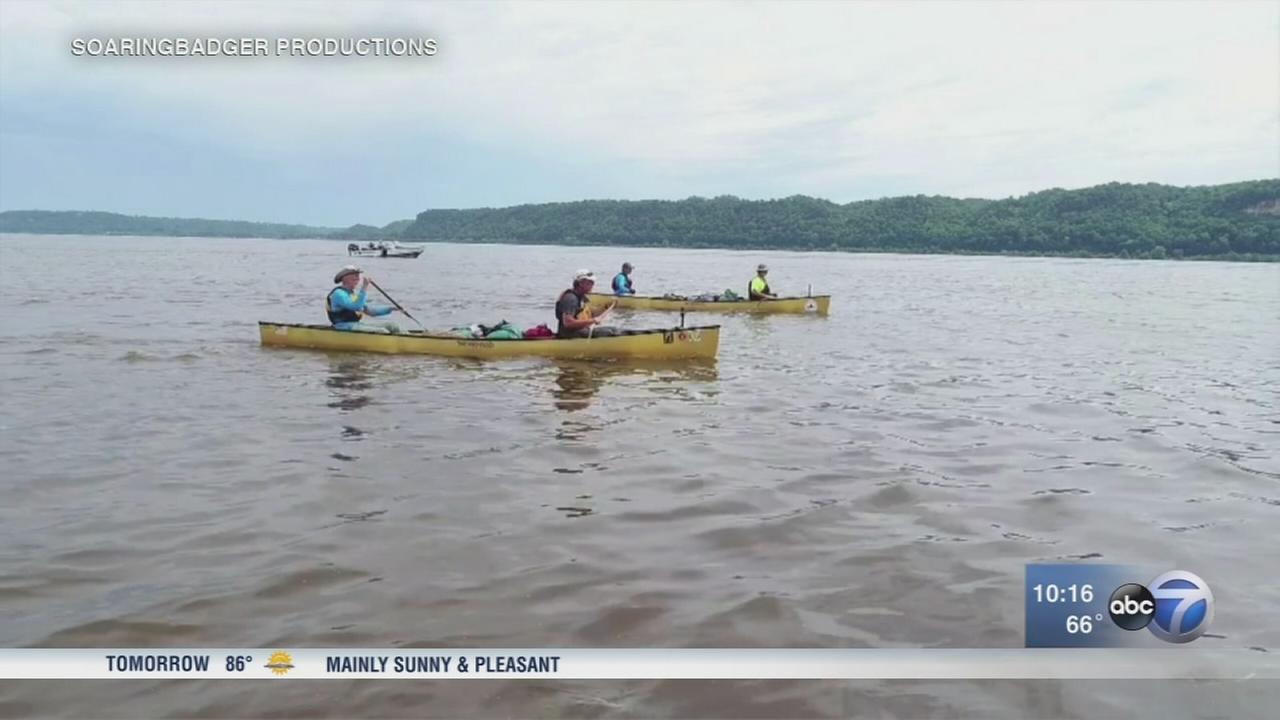 No ordinary canoe trip as group paddles Mississippi River