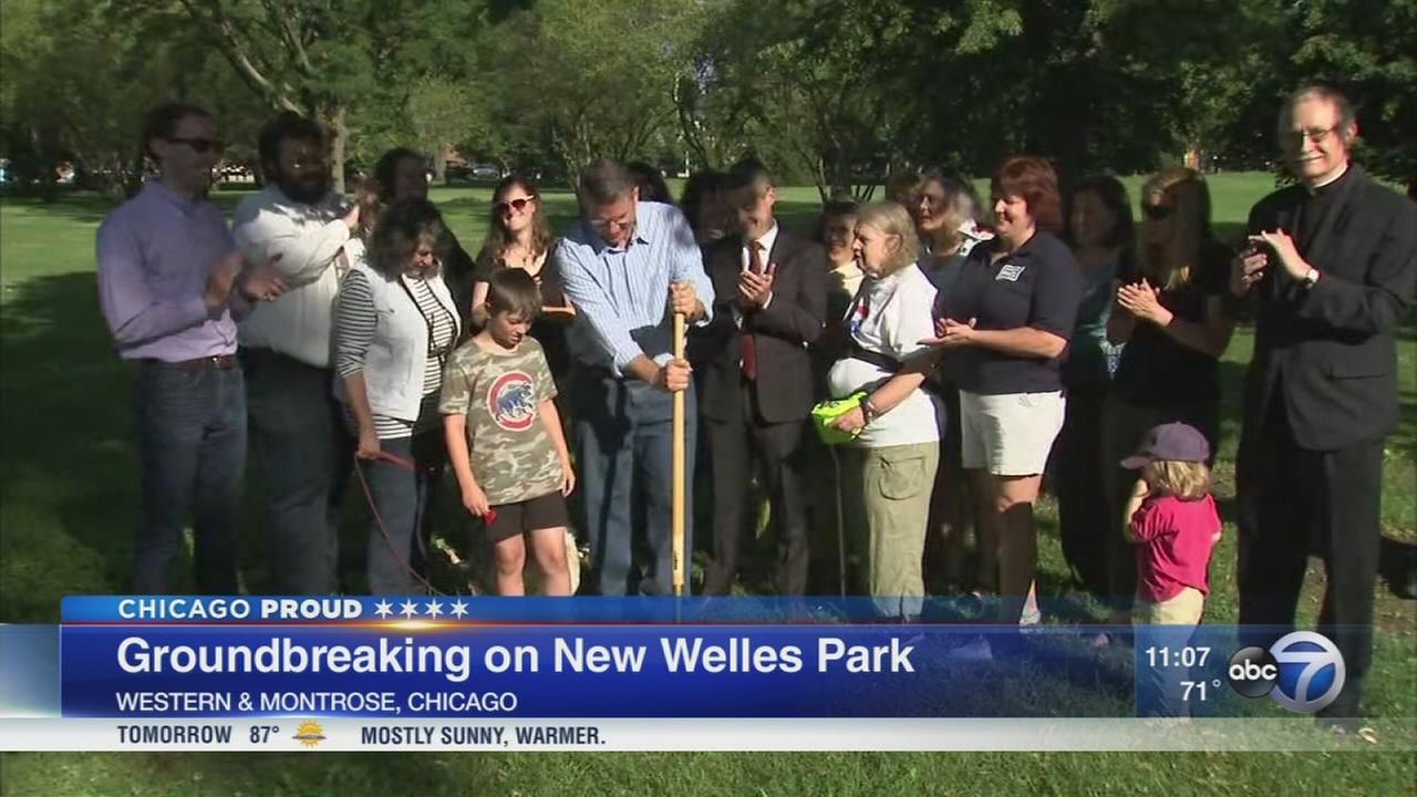 Ground broken on new play space at Welles Park