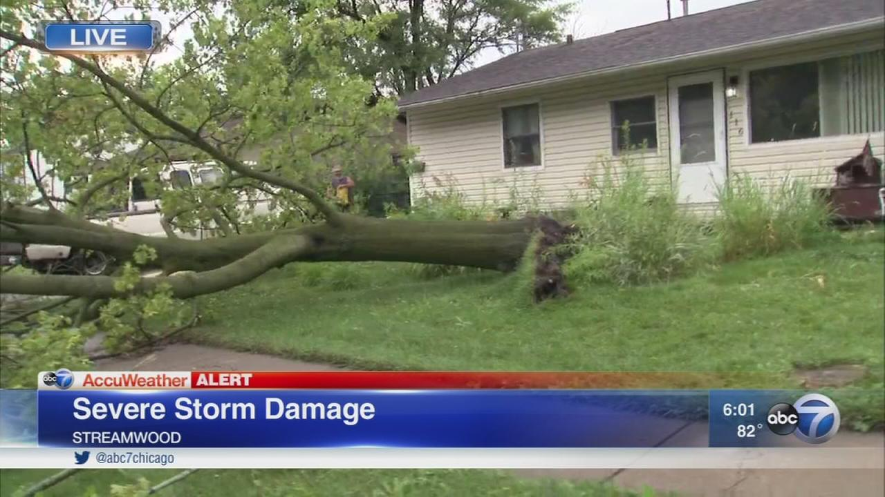 Severe weather hits northwest suburbs